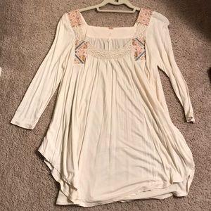 Free people - flowy, boho, 3/4 sleeve shirt